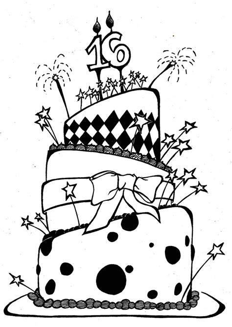 Bday Drawing by Birthday Drawings Cliparts Co