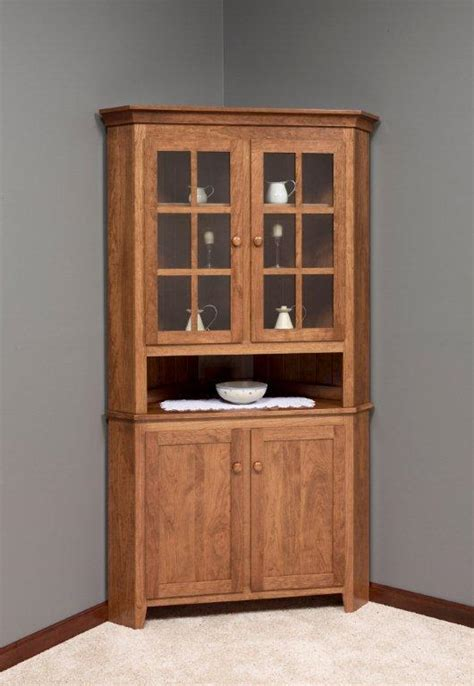 Corner Hutch Dining Room Furniture Herrons Amish Furniture Dining Room Hutches Bed Mattress Sale