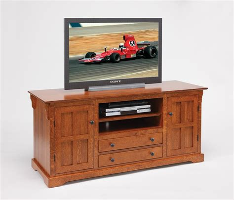 Legacy Amish Handcraft Furniture - amish solid wood tv stand with door drawers