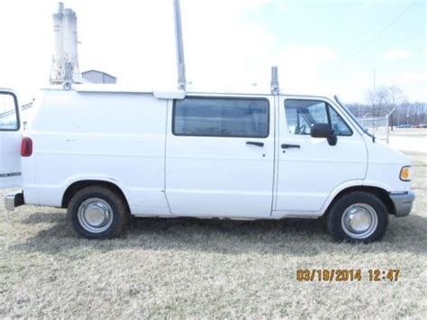 security system 1998 dodge ram van 3500 on board diagnostic system purchase used dodge ram b3500 1996 white van with ladder rack tool drawers security system