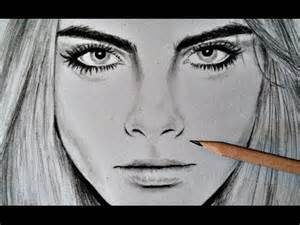 cara delevingne time lapse drawing with pencil youtube