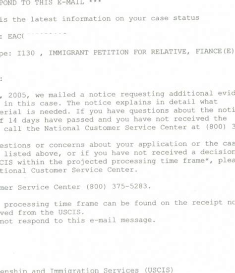 Inquiry Letter For Nvc Rfe S Craig Ging S Home On The Web