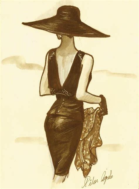 fashion illustration hats fashion illustration black hat journal 2