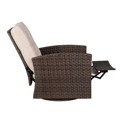 Deluxe Rattan Swivel Rocking Chair Aosom Ca Swivel Rattan Chair