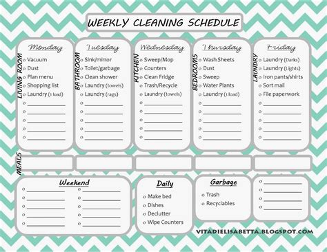 Editable Cleaning Schedule Template Hunecompany Com Cleaning Template