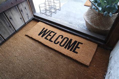welcome door mat by peastyle notonthehighstreet