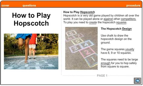 how to play how to play hopscotch procedure skills