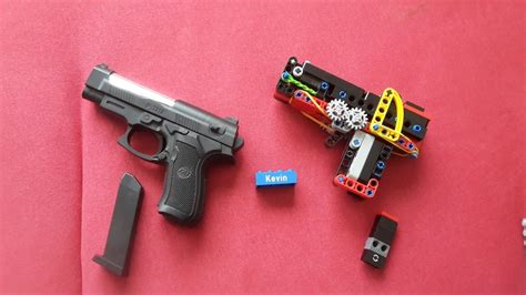 lego revolver tutorial lego mini technic pistol working tutorial youtube