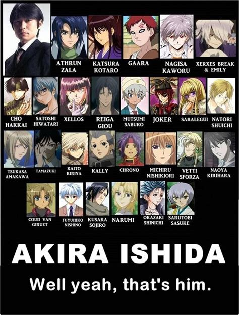 Anime Voice Actors by Seiyu Ishida Anime Ishida