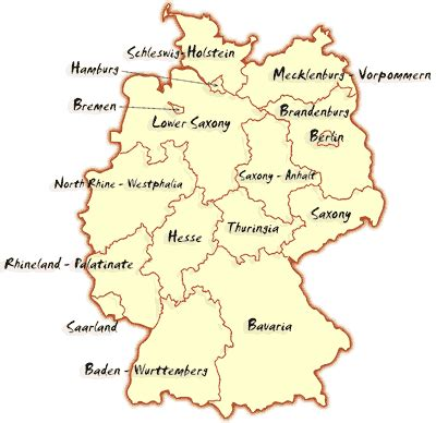 Germany Address Finder Find Out About The States Of Germany Genealogy Germany