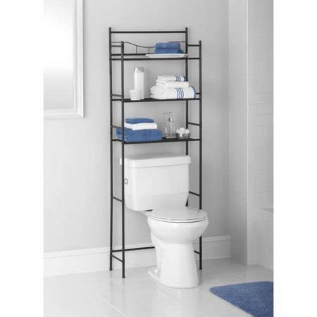 mainstays bathroom space saver mainstays 3 shelf bathroom space saver oil rubbed bronze