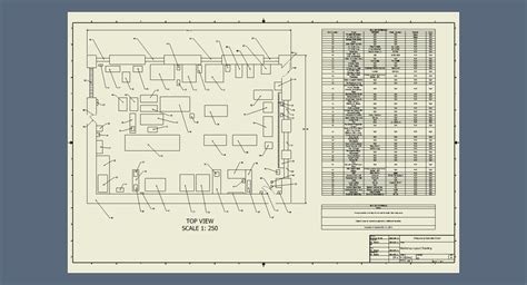 Workshop Layout Dwg | workshop layout drawing with machines autodesk inventor