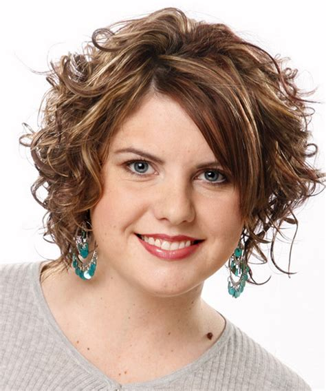 thin curly fat face styles medium short hairstyles for women with a fat or round face