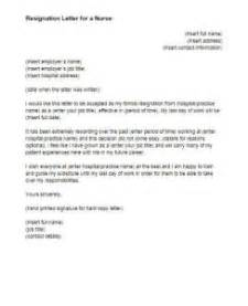 Exle Of Resignation Letter For Nurses by Resignation Letter For A Sle Just Letter Templates