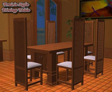 mod the sims prairie style dining room fixed 3 tile