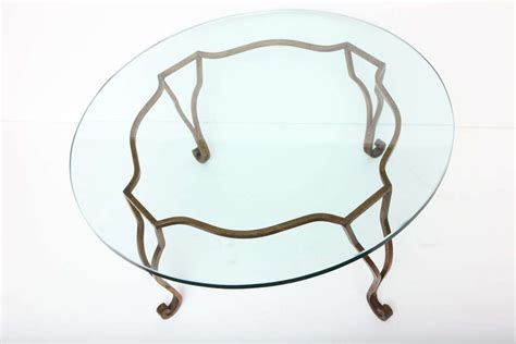 Wrought Iron Glass Coffee Table by Gilt Wrought Iron Glass Top Coffee Table At 1stdibs