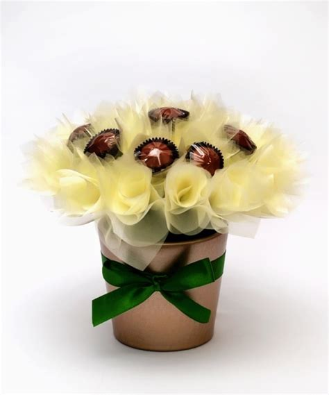 Sweet In Pot Bouquet made buchet ciocolata ghiveci chocolate bouquet pot