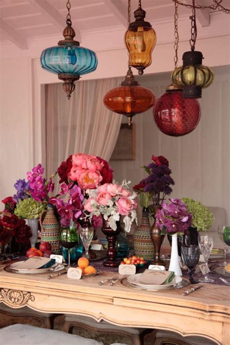 Bohemian Inspired Decorating Inspired By This Bohemian Rehearsal Dinner Idea Inspired
