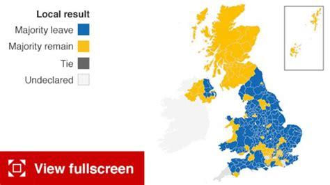 map uk vote brexit ブレグジット brexit 世界を揺るがす イギリスがeu離脱 new york