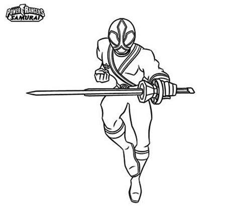 samurai power rangers colouring pages