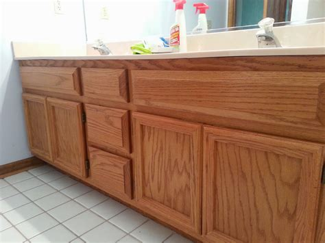 Gel Stained Cabinets Before And After by Give It A Go Gel Staining Cabinets