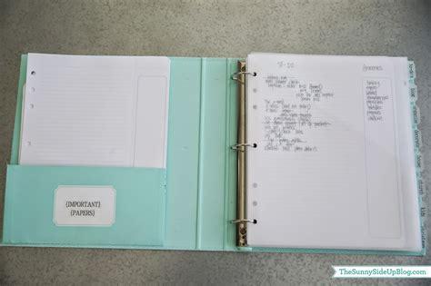 Binder Side Up time management binder revised the side up