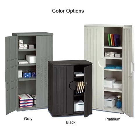 Resin Storage Cabinets by Iceberg Resin Storage Cabinet Platinum 33 Quot W X 18 Quot D X 66