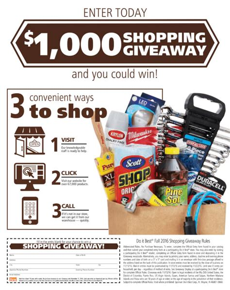 Shopping Giveaways - fall 2016 1 000 shopping giveaway charlie s hardware