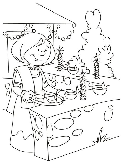 diwali coloring sheets for kids coloring home