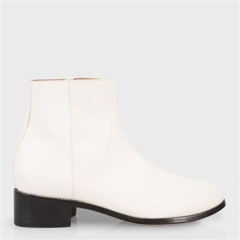 mens white boots leather paul smith s white buffalino leather ollis boots
