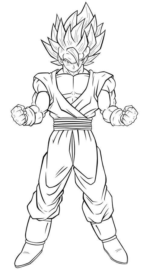 Goku Super Saiyan 2 Dbapex By Jaydrivera On Deviantart Z Coloring Pages Goku Saiyan 5
