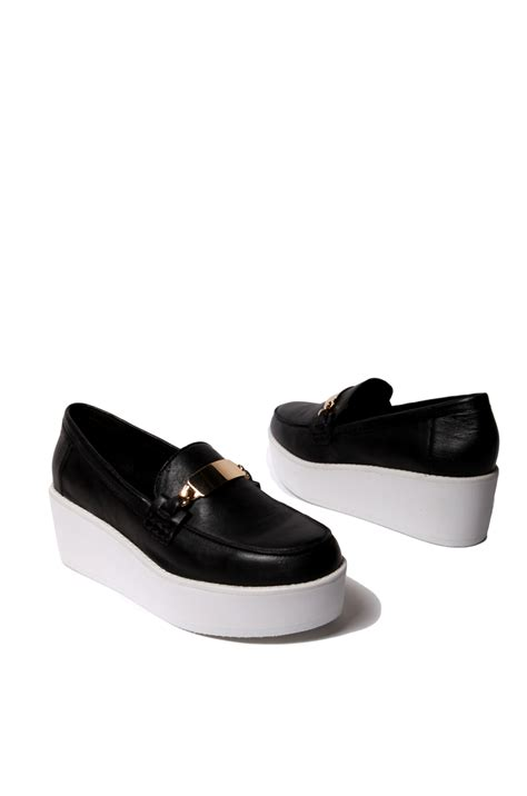 steve madden gold loafers steve madden j fresh platform loafer in black black