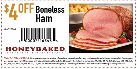 honeybaked ham coupon