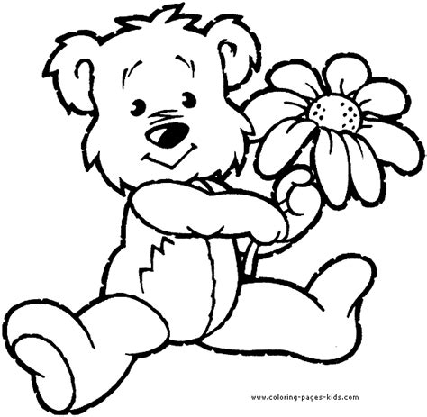 printable coloring pages bears bear with a flower bear color bears animal coloring