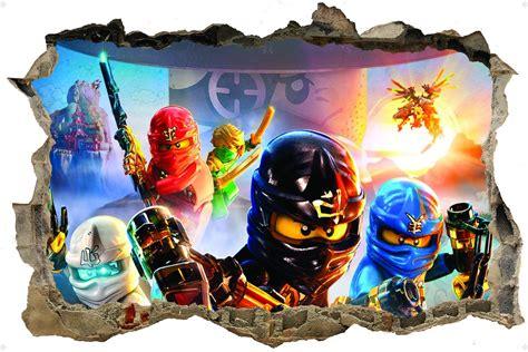 3d Sticker Ninjago by Lego Ninjago 3d Style Wall Sticker