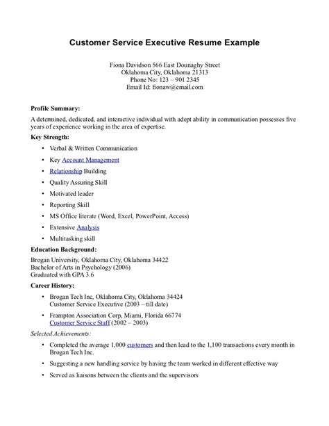Resume Examples For Customer Service by Resume Sales Services