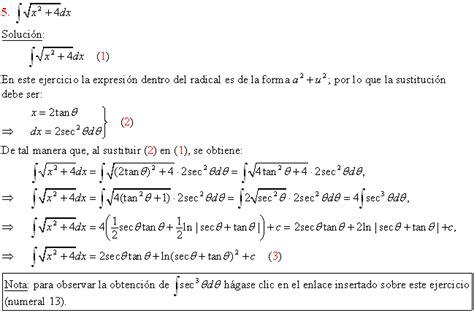 vitutor raices cuadradas integraci 243 n por sustituci 243 n trigonom 233 trica p 225 gina 2