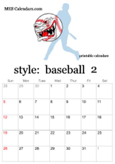 baseball calendar template printable baseball calendars customizable sports