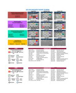 preschool calendar templates sle calendar template 9 free documents