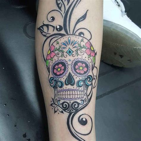 flower sugar skull tattoo best tattoo ideas gallery