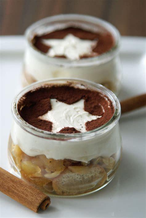 weihnachtlicher kuchen im glas weihnachtsdessert bratapfel tiramisu langsam kocht besser