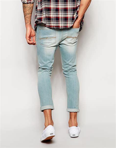 super light wash jeans light wash skinny jeans mens jeans am