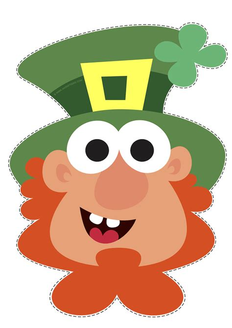 printable leprechaun mask st patrick s day