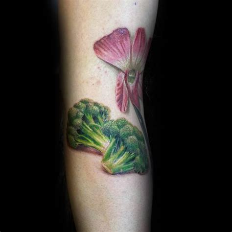 broccoli tattoo 60 broccoli ideas for vegetable designs