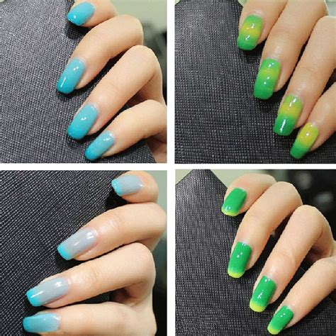 color changing acrylic nails modele unghii magice