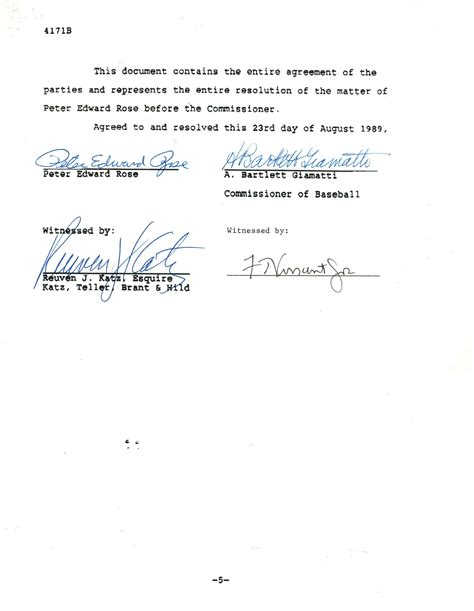 Letter Of Agreement Signatures Pete Document Signed Agreement