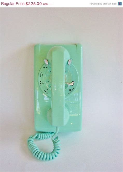 modern wall phone retro wall phone in turquoise vintage rotary wall phone