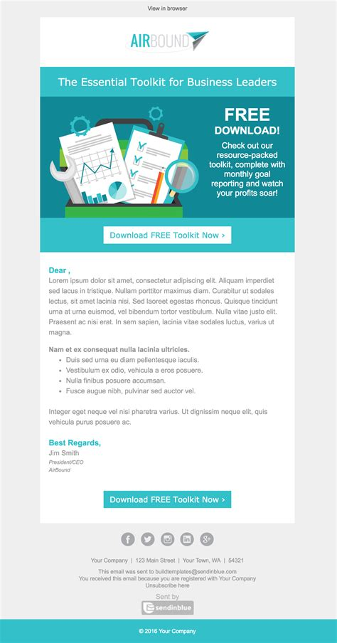Top 8 B2b Email Templates For Marketers In 2017 Email Template