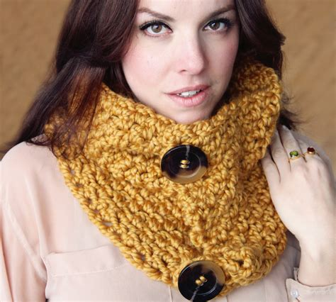 crochet pattern chunky cowl scarf wrap the