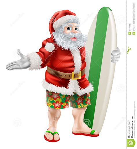 surf santa stock vector image of board shorts australia